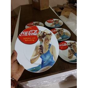 Caneta Kit 6 Prato Coca Cola Porcelana 27x27cm