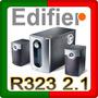 Parlantes Edifier R323 2.1 Línea Clásica Negro De Madera