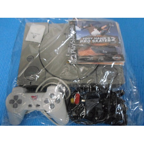 Playstation 1 Fat + 5 Jogos + Acessórios