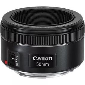 Nova Lente Canon 50mm F/1.8 Stm Original C/garantia E Nota