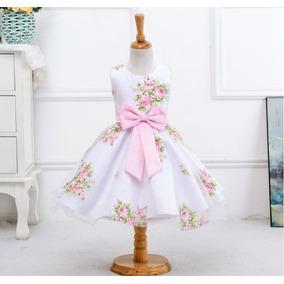 Vestido Criança Floral Casamento Formatura Princesa Daminha