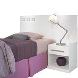 Respaldo Sommier 1 Plaza - Cabecera - Dormitorio - Lcm