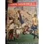 Antigua Revista Union Sovietica Urss Rusia Futbol 1956 Cccp