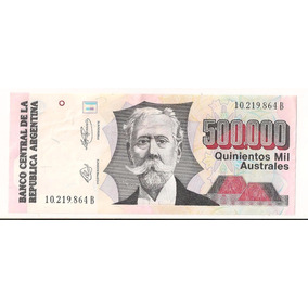Billete De 500000 Australes (sa)
