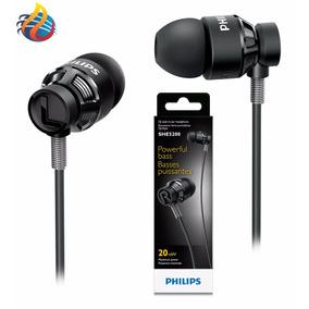 Fone Philips Extra Bass She 5205 Com Microfone E Botão Smart