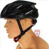 Casco Bicicleta Mtb Ruta Seguridad Negro Mate Aerodinámico