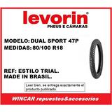 Cubierta Levorin 80/100 R18 Dualsport (estilo Trial)