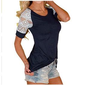 Blusa Camisa Sueters De Moda Asiatica Con Encaje
