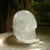 Cráneo De Cuarzo Cristal. 6 Cm Alto Peso 400 Gr