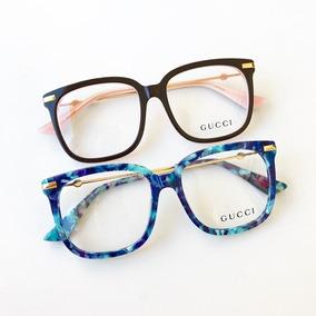 67abab58273c8 Armação De Grau Óculos Gatinho Quadrado Feminino Acetato