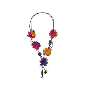 Collar Tonnos Con Flores De Fieltro-envío Gratis