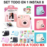 Set 70 Instax Mini 8 Camara + Rollo + 70 Accesorios Fujifilm