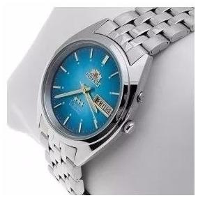 Relógio Orient Masculino Automático Fem0401tl9 Prata Azul