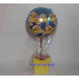 Balão Minions, Enfeite De Mesa Kit Completo C/ 15 Unidades