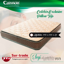 Colchon Cannon Exclusive Pillow 140 X 190 30kg Alta Densidad