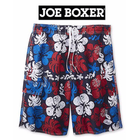 Shorts Xl Traje Bano Cargo Joe Boxer Azul Hombre Extra Grand