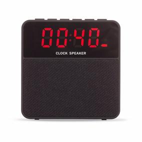 Caixa De Som Bluetooth Relógio Digital