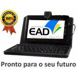 Tablet 7 Android Estudo Ead + Capa Teclado Tipo Netbook + Fg