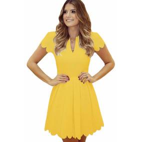 Vestidos amarillos cortos casuales