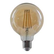 Lámpara Globo Ámbar Filamento Vintage 8w Led Ultra Cálida