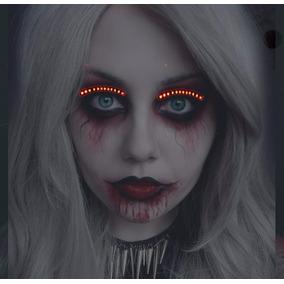 Led Lashes Pestaña Catrina Disfraz Halloween Fiesta Antro