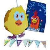 Piñata Granja + Cartel + Guirnalda Personalizado En Goma Eva