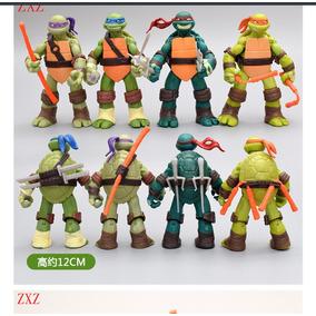 Bonecos Tartarugas Ninja Coleção Completa 12cm Pvc