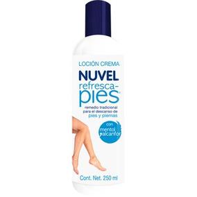 Locion Crema Nuvel Refresca Pies Con Mentol Y Alcanfor