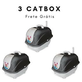 Caixa De Areia Gatos Fechada Wc Cat Box Frete Gratis 3 Unid