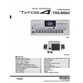 Manual De Serviço Do Teclado Yamaha Tyros 4 / Trs-ms04