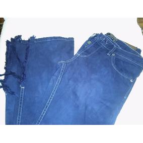 Jean Tucci Azul Talle 25 Long Oxford Botamangas Desflecadas