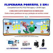 Fliperama Portátil 3 Em 1 - 20 Mil Jogos