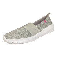 Tenis Charly Mujer 1044376 Gris Textil Deportivo Running