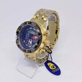 5b5efc2164d Relógio Prata Com Fundo Preto Masculino Atlantis - Relógios De Pulso ...