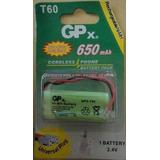 Bateria Telefone Sem Fio T 60 2.4v 650 Mah 2 Palito Aaa T60