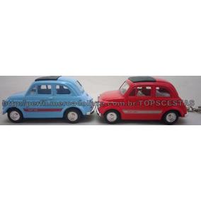 Kit 2 Chaveiros Fiat 500 Kinsmart 1/48 Antigo Coleção
