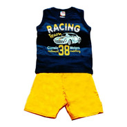 Conjunto Infantil Masculino Racing Team - Brandili