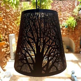 Lanterna De Ferro Árvores Secas P/ Decoração C/ Vela