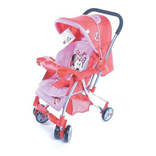 Cochecito de bebé Dencar Coche Cuna 3133 de paseo rosa con chasis plateado