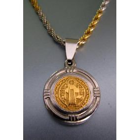 2ad92065d61 Medallas San Benito Acero Quirurgico - Dijes de Acero en Mercado ...