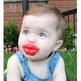 Chupeta Beijo Vermelha Diferente