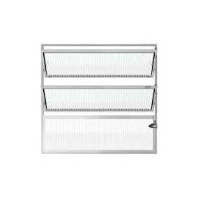 Janela Basculante Aluminio 3 Vitrôs Banheiro - 60cm X 60cm
