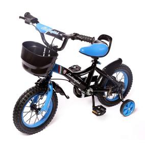 Bicicleta Lamborghini Infantil R 12 Canasto Y Rueda Inflable