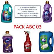 Pack Lavado Detergente Liquido Abc+suavizante+lavaloza