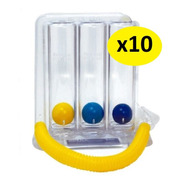 Combo 10 Inspirómetro Incentivo Ejercitador Pulmonar Inspm