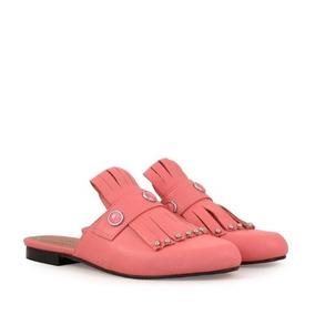 Slippers De Cuero Rosa Batistella