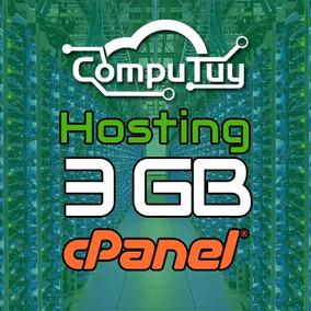 Hosting O Alojamiento Web 3gb + Dominio.com.ve Gratis X1 Mes