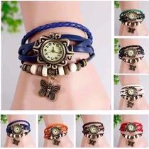 Reloj Vintage Para Dama Diferentes Colores Lote 10 Pzas