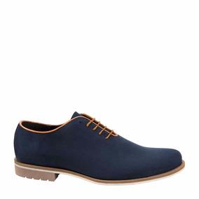 Zapato Casual Caballero Sagezza Hombre Azul Elegante Id269