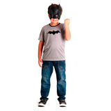 Disfraz Kit Mascara Y Remera Batman Chicos